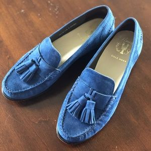 Cole Haan Blue Suede Loafers